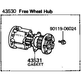 Hub, Free Wheel, 76-79 FJ40 45 55 BJ40 HJ45