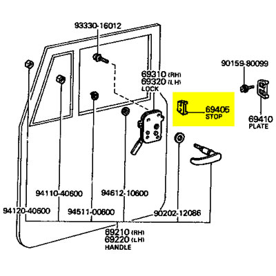 1966 Volkswagen Beetle Headlight Switch Wiring furthermore Mopar Electronic Voltage Regulator Wiring Diagram in addition Stop Front Door 73 75 Fj40 Hj45 Bj40 P 1821 moreover 1997 F150 Fuse Box Layout besides 2002 Dodge Ram Fuse Box Diagram. on toyota voltage regulator wiring diagram