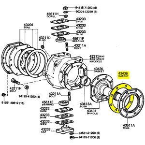 Gasket Spindle Retainer 76 92 Fj Hj Bj P 1250