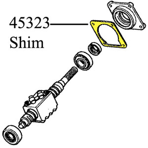 Shim Set, Gear Housing Cover