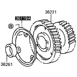 Oil Receiver, Transfer Idler Gear, 83-86 FJ40 FJ45 BJ42 HJ47 1